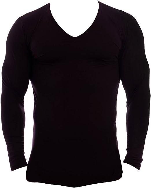 Obviously Essence Deep V-Neck Long Sleeve Undershirt White
