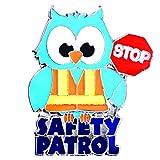 Safety Patrol Owl Die-cut Award Lapel Pins, 12 Pins