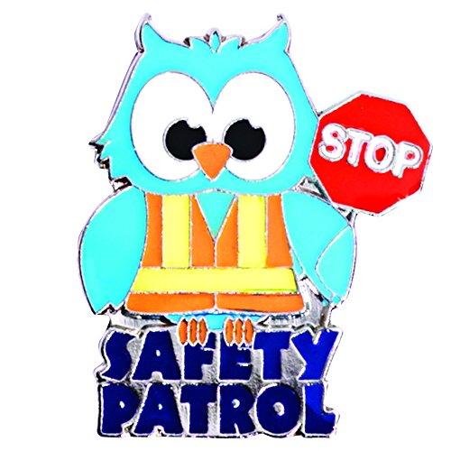 (TCDesignerProducts Safety Patrol Owl Die-Cut Award Lapel Pins, 12 Pins)
