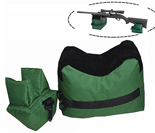 Shooting Rest Bag – Outdoor Rifle Hunting Gun Accessories Target Sports Bench,Front & Rear Bags For Shooter Hunter,Unfilled,Green by Tikteck