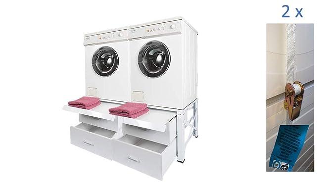 Doble estructura para lavadora y secadora Pedestal - Fregadero ...