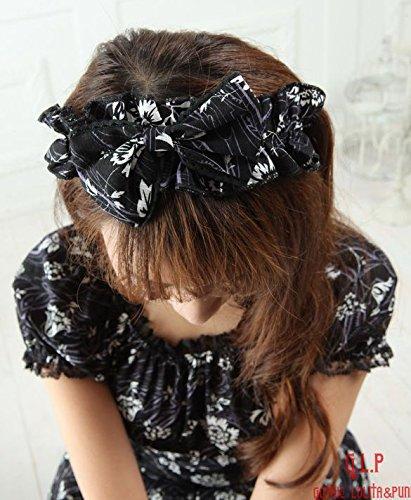Spitze GLP Floral Schwarz weiß schwarz Gewächshaus mit Schleife Design Kopf und Kleid schwarze 0wZBqgP