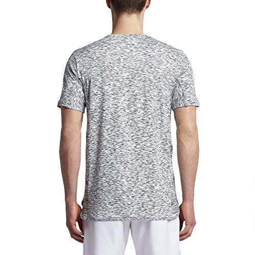 Nero Nike Dry Platino Platinum Black Black Maglietta Uomo Bianco Da Corte Pure Nkct M Ss Chllgr Tennis white A Maniche OEUqO6r