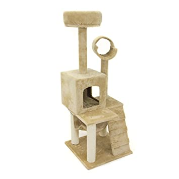 deluxe 52 u0026quot  cat tree tower condo scratcher furniture kitten house hammock amazon     deluxe 52   cat tree tower condo scratcher furniture      rh   amazon