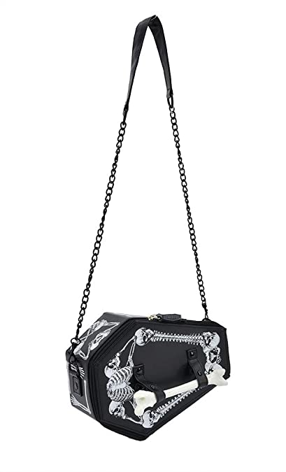 TOKYO-T Coffin Bags and Purses Gothic Shoulder Bag Skull Box Funny  Halloween Costume Accessories