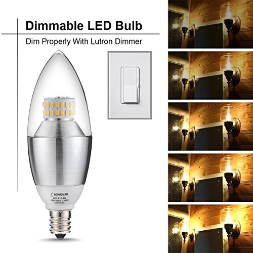 Lohas Led Candelabra Bulb Dimmable 60 Watt Light Bulbs