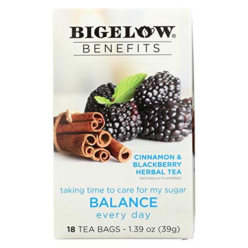 (Bigelow Benefits Herbal Tea (Pack of 2) Cinnamon & Blackberry Herbal Tea, 18 Count Boxes)