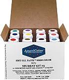 Food Coloring AmeriColor Student - Kit 3 12 .75 Ounce Bottles Soft Gel Paste Colors