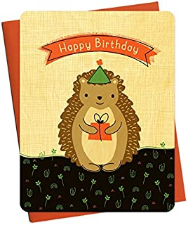 product image for Hedgehog Wood Birthday Card by Night Owl Paper Goods