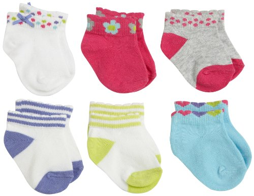 Carter's Hosiery Baby-Girls Infant 6 Pack Scalloped Anklet Socks