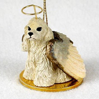 Simply Silver -COCKER SPANIEL (BLONDE) ANGEL DOG CHRISTMAS ORNAMENT HOLIDAY Figurine Statue