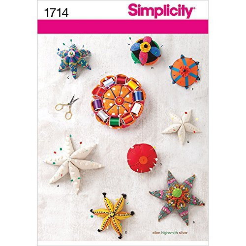 Simplicity 1714 Pin Cushions Sewing Pattern, Size OS (One ()