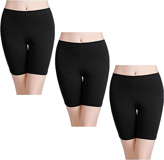 Plus Taille Femmes 2 Paire Noir//Nude Confort Anti Frottement Short-XL /& XXL