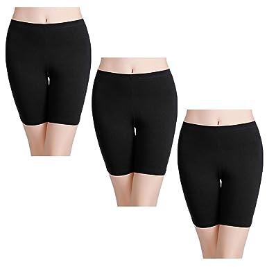 9a09ac9cf02 wirarpa Women's Anti Chafing Cotton Shorts Long Leg Knickers Ladies Soft  Boxer Shorts Underwear 3 Pack