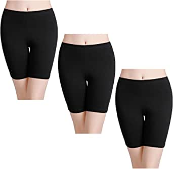 wirarpa Womens Anti Chafing Cotton Underwear Shorts Long Leg Knickers Under Dresses Biker Short Leggings 3 or 1 Pack