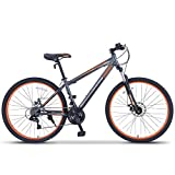 "ORKAN 27.5"" MTB Shimano Hybrid 21 Speed Mountain Bike Mountain Bike Grey & Orange"