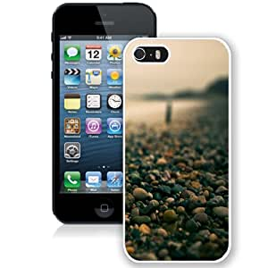 NEW Unique Custom Designed iPhone 5S Phone Case With Macro Small Pebbles On The Beach_White Phone Case