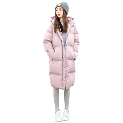 d3721312c473 NZ Hooded Down Jacket Women Winter Warm Long Sections Zipper Down Coat  (Color : PINK, Size : M): Amazon.co.uk: Kitchen & Home