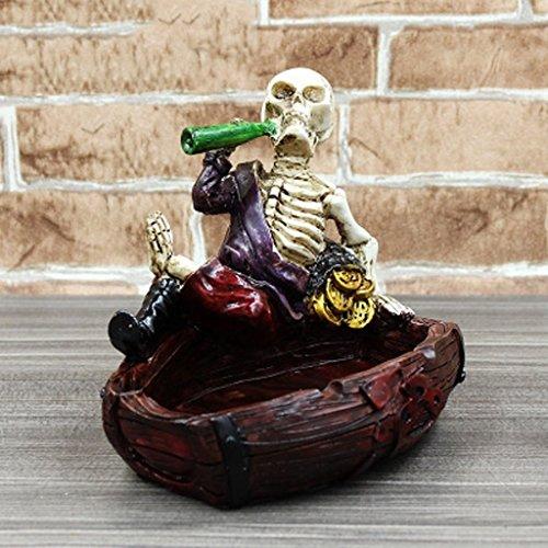 FACAIG Creative drink plastic skeleton design skull ashtrays head retro (Skeleton Carving Art)