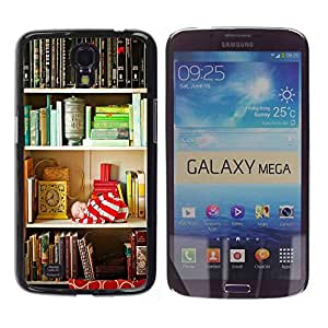Paccase / SLIM PC / Aliminium Casa Carcasa Funda Case Cover para - Shelf Reading Teach Library School - Samsung Galaxy Mega 6.3 I9200 SGH-i527