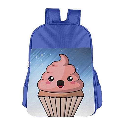 Ongshuquwe Cupcake Poop Leisure Children Cute Cartoon Schoolbag RoyalBlue