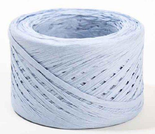 100 Yard Spools Eco Friendly Baby Blue Matte Paper Raffia Ribbon- 3 100 Yard Spools- (300 Total Yards) by Factory Direct Craft