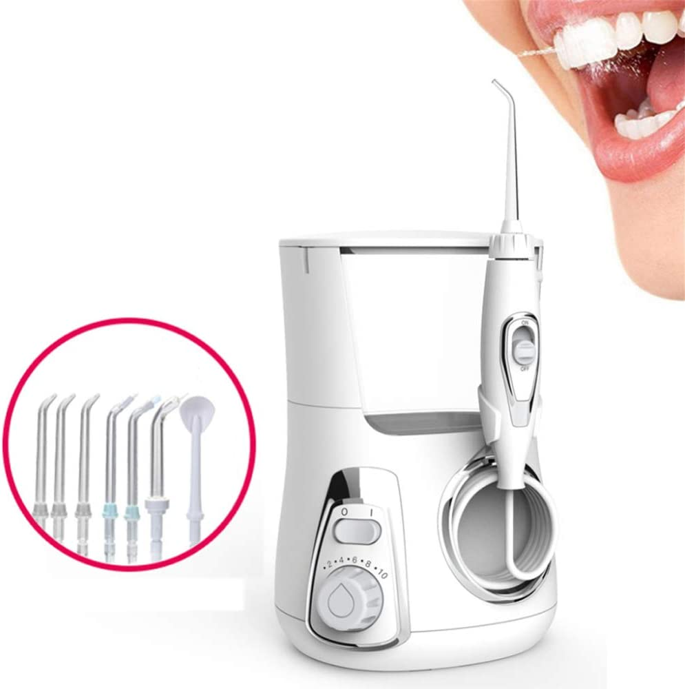 GIFT Irrigator Oral 800ML Irrigador Bucal Eléctrico Dental Chorro De Agua Cuidado Bucal Portátil Higiene Bucal Irrigator Set Dental Flosser