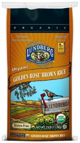 Lundberg Organic Golden Rose Medium Grain Brown Rice, 25-Pound by Lundberg