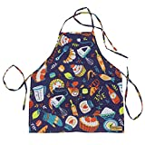 Emmzoe 'The Little Chef Toddler Apron with Adjustable Neck and Back Ties - for Baking, Painting, or Pretend Play (Pastry Chef)