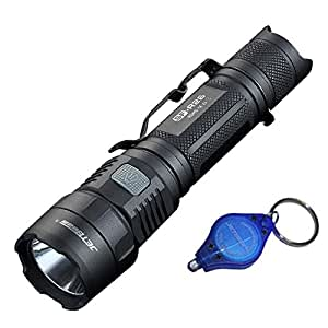 Jetbeam SF-R26 Rechargeable CREE XP-L HI USB Rechargeable Flashlight -1200 Lumens w/ Exclusive Jetbeam Keychain Light
