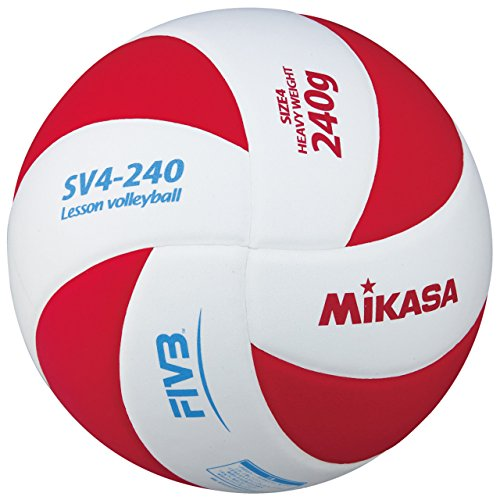 《미카사》(MIKASA) 레슨 발리볼 배구공 4호 SV4-240-WR WR 화이트/레드 4 호공