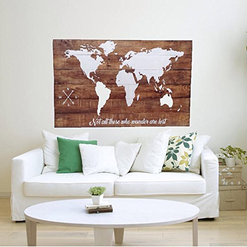 Perfect Wood World Map Wall Art / Large Wall Art Map / Reclaimed Wood / Wood Wall