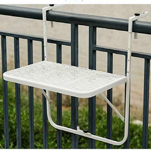 Tavolo Giardino Ferro Pieghevole.Shixuan Balcone Appeso Tavolo Ringhiere In Metallo Ferro Battuto