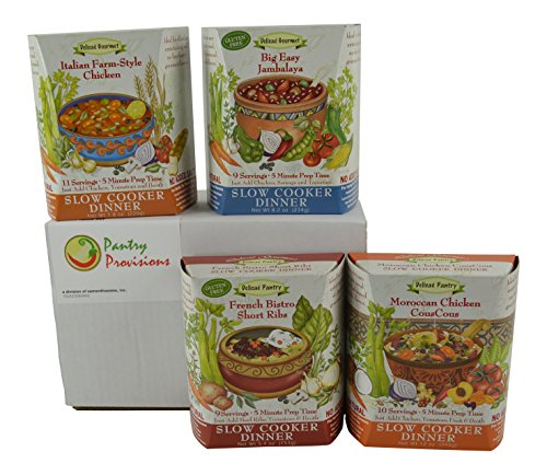 Around The World: Delicae Slow Cooker Meal Bundle Four Different Flavors