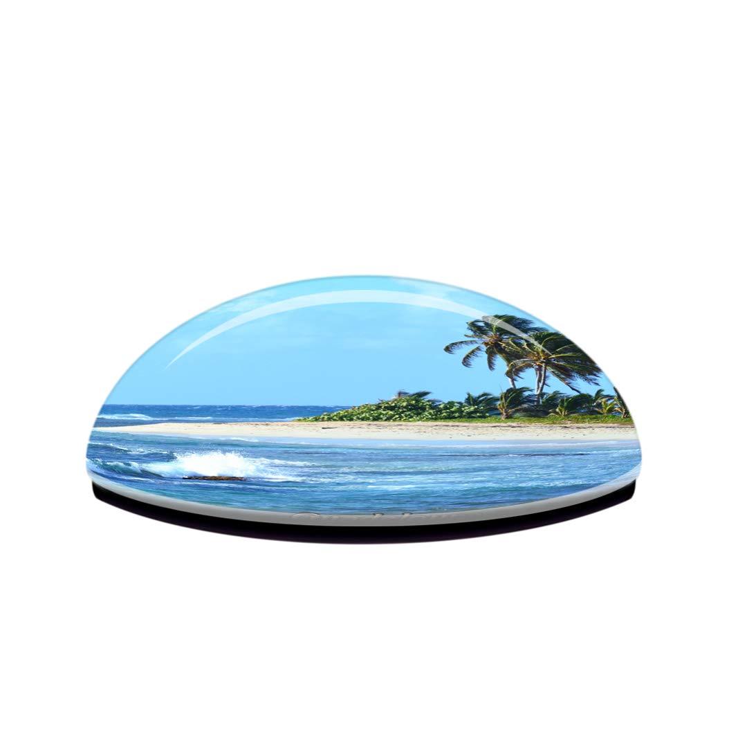 Weekino Francia Guadalupa Calamit/à da frigo 3D Cristallo Bicchiere Tourist City Viaggio Souvenir Collezione Regalo Forte Frigorifero Sticker