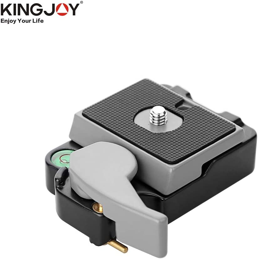 TPOTOO KINGJOY Aluminium Alloy Quick Release Mount Base with Quick Release QR Plate Bubble Level 1//4 /& 3//8 Inch Screw for Tripod Monopod Ballhead for Camera Camcorder DSLR GoPro