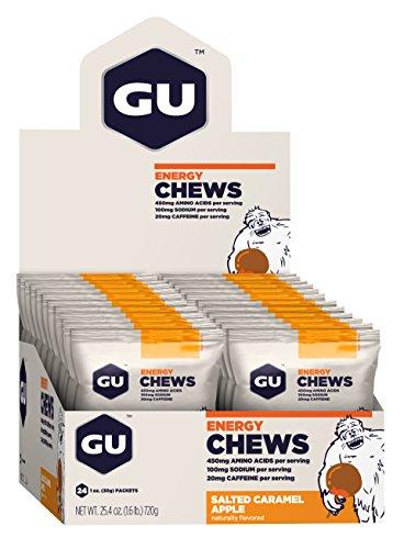 GU Energy Chews, Salted Caramel Apple, 24 Count