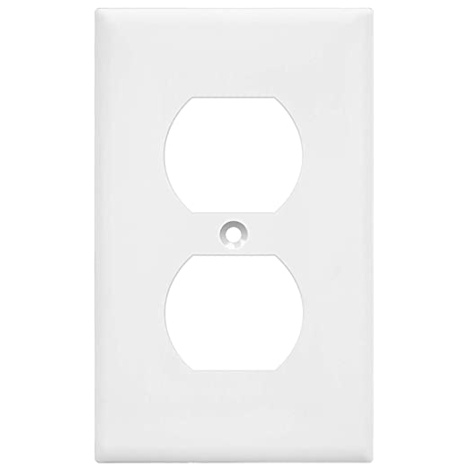 Enerlites Duplex Receptacle Outlet Wall Plate Electrical Outlet Cover Mid Size Size 1 Gang 4 88 X 3 11 Unbreakable Polycarbonate Thermoplastic Ul Listed 8821m W White Home Improvement