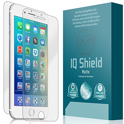 iPhone 6s Plus Screen Protector, IQ Shield Matte Full Coverage Anti-Glare Screen Protector + Full Body Skin for iPhone 6s Plus (6 Plus 5.5 Updated Version) Bubble-Free Film