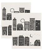 Now Designs 2000026aa Swedish Dishcloth, Hometown, 2 Piece