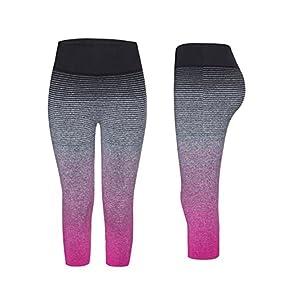 YR.Lover Women's Slim Capris Running Leggings Fitness Tigths Yoga Pants