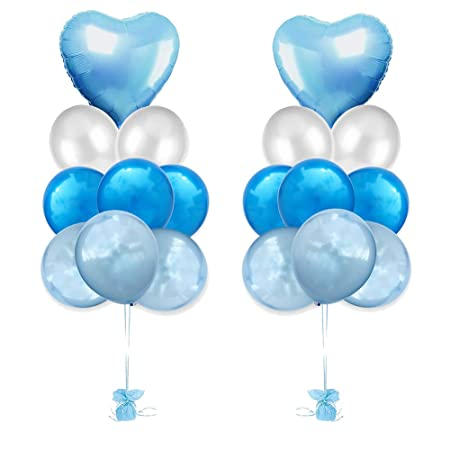 Weimay 18 PCS Latex Balloon Birthday Helium Globos Navidad ...