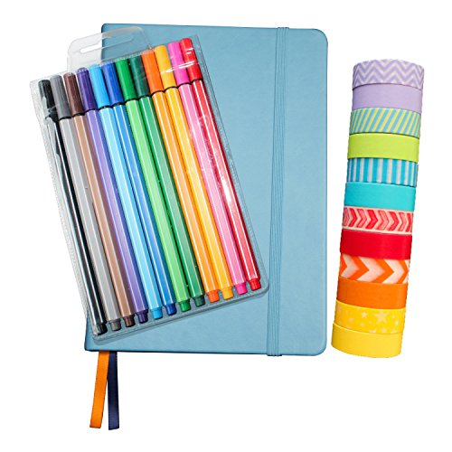 Wonderful Washi Bullet Journal Set TURQUOISE - Includes Hard Cover A5 5.7