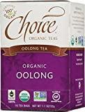 Choice Organic Teas Oolong Tea, 16 Count, Pack of 6