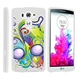 LG G3 Phone Cover, Stylish Personalized Protective Snap On Hard Case Phone Protector for LG G3 (D850, D851, D855, VS985, LS990, US990) by MINITURTLE - Beamed Note Music Symbol