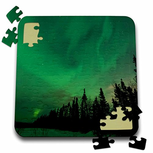 Danita Delimont - Northern lights - US, Alaska, Fairbanks. Northern Lights display - 10x10 Inch Puzzle (pzl_278434_2) (Lights Alaska Fairbanks Northern)