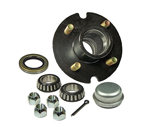 4 Bolt Hub (Trailer Hub Kit - 4 Bolt on 4 Inch Circle - 1 inch I.D. Bearings)