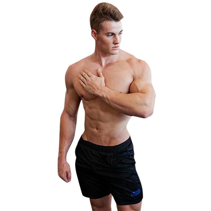 Yesmile Pantalones de Hombres Moda Playa Surf Pantalones Cortos Deportivos con Bolsillos Cómodo Cintura Elástica Casual