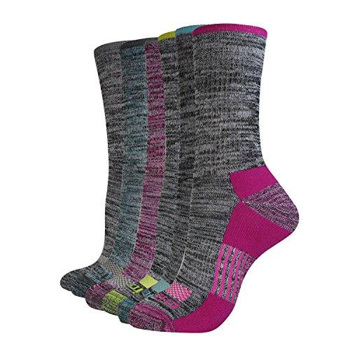 - Dickies Women's Dritech Advanced Moisture Wicking Crew Sock (6/12 Packs), Grey Heathered (6), Shoe Size: 6-9
