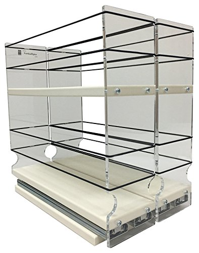 Vertical Spice - 33x2x11 DC - Spice Organizer - Two-Tiered Cabinet Drawers for Large Containers 33x1x11 DC
